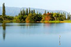 Na Pali mountains and lake Stock Photography