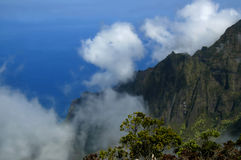 Na Pali on Sunny Day Royalty Free Stock Photo