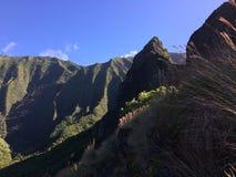 Na Pali wybrzeża falezy na Kauai wyspie Hawaje, Kalalau ślad, - Zdjęcia Stock