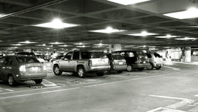 na parkingu Zdjęcia Royalty Free