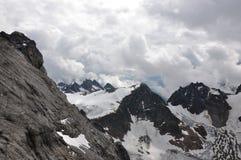 Na parte superior da montanha Titlis nos alpes Imagem de Stock