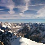 Na parte superior de Mont Blanc Imagens de Stock