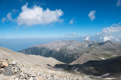 Na parte superior do Monte Olimpo foto de stock