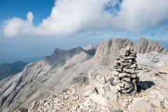Na parte superior do Monte Olimpo imagem de stock