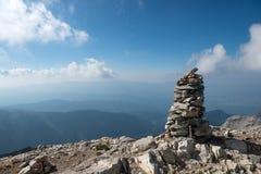 Na parte superior do Monte Olimpo fotografia de stock royalty free