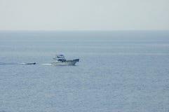 na pełnym morzu Zdjęcia Royalty Free