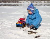 Na pesca Fotos de Stock Royalty Free