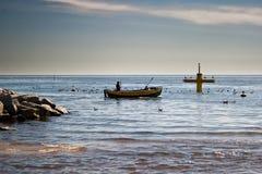 Na pesca. Imagens de Stock