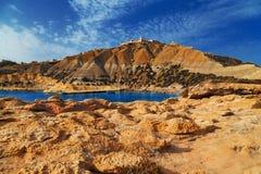 Na pięknym słonecznym dniu Gozo wyspa, Malta Plaża Obrazy Royalty Free