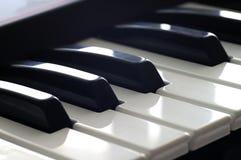 - na pianinie Zdjęcie Stock
