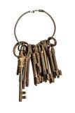 Na pierścionku antykwarscy klucze Zdjęcie Royalty Free