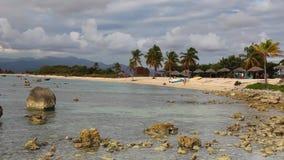 Na plażowym Playa Giron, Kuba zbiory wideo