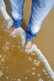 na plaży 01 odśwież kosztów Zdjęcie Royalty Free