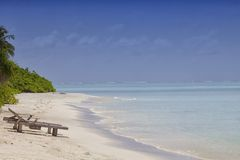 Na Plaży holów krzesła Obrazy Royalty Free