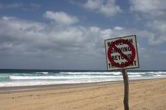 na plaży nie jeździć Obrazy Stock