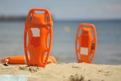 Na plaży ratownika wyposażenie Fotografia Royalty Free