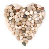 na plaży w kształcie serca kamienie Zdjęcie Royalty Free