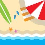 Na plażowym odgórnym widoku Zdjęcia Stock