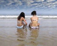 na plażę po południu Obrazy Royalty Free