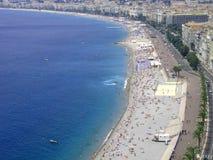 - na plaży Zdjęcia Royalty Free