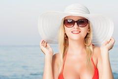Na plaży Zdjęcia Royalty Free