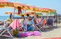 Na plaży Fotografia Royalty Free