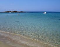 na plaży agia popper Zdjęcia Royalty Free