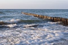 Na plaży Ahrenshoop Obraz Stock