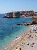 na plaży banje Dubrovnik Fotografia Stock
