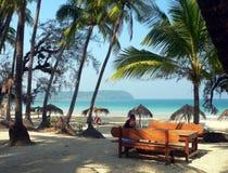 na plaży ngpali Burma Obraz Royalty Free