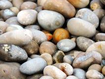 Na plaży otoczaki zdjęcie stock