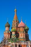 Na Plac Czerwony Basil świątobliwa Katedra, Moskwa Zdjęcie Stock