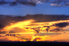 na południowy zachód słońca Fotografia Stock