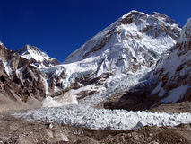 na południe od obozu Everest Zdjęcia Royalty Free