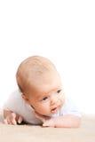Na podłoga mały dziecko zdjęcie royalty free