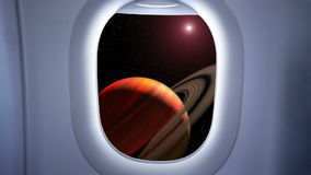 Na podejściu Saturn zdjęcie wideo