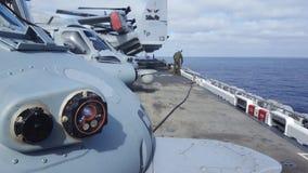 Na pokładzie okręt marynarki Zdjęcie Stock