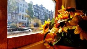 Na pokładzie Houseboat muzeum w Amsterdam obraz royalty free