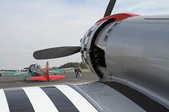 Na Pokazie Druga Wojna Światowa Samolot Fotografia Stock