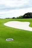 Na polu golfowym piasków bunkiery zdjęcie royalty free