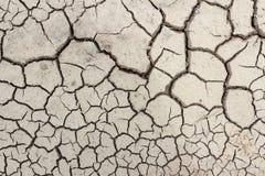 Na porze suchej krekingowa ziemia Obraz Stock