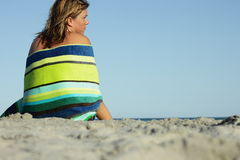 Na praia fotos de stock royalty free