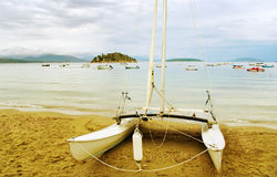 Na praia. Fotografia de Stock