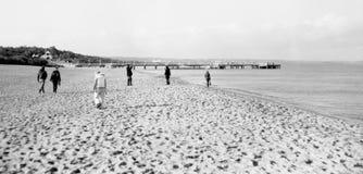 Na praia. Foto de Stock