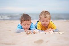 Na praia Fotografia de Stock Royalty Free