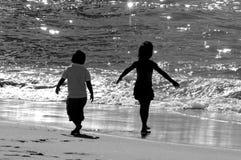 Na praia Imagens de Stock