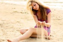 Na praia Imagens de Stock Royalty Free