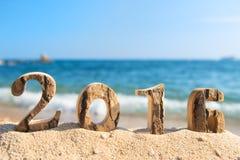2016 na praia Fotos de Stock
