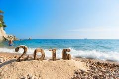2016 na praia Imagens de Stock Royalty Free