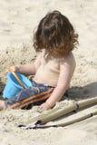 Na praia Fotografia de Stock